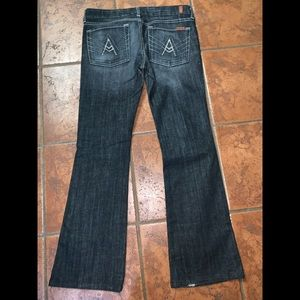 7 for all mankind black boot cut jeans size 31